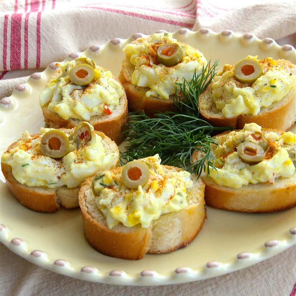 Egg and Olive Crostini