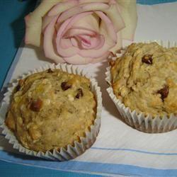 Banana-Chip Oat Muffins