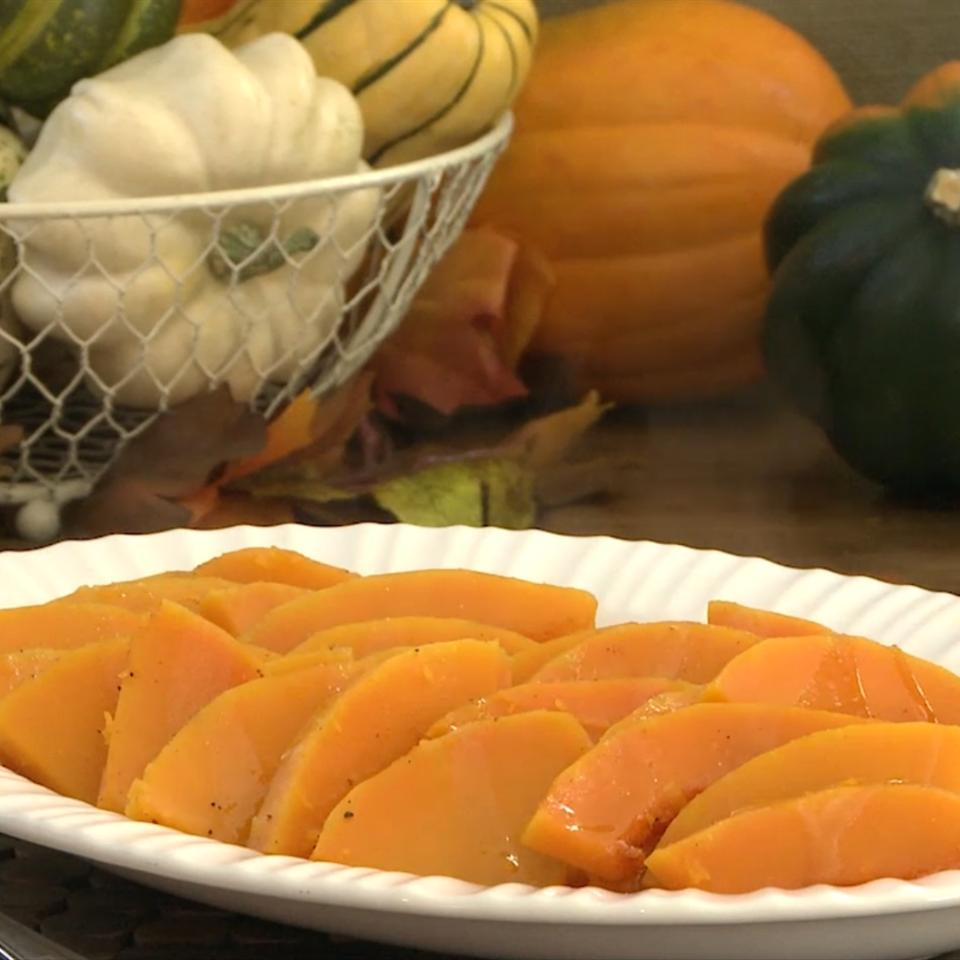 Maple Glazed Butternut Squash The Gruntled Gourmand