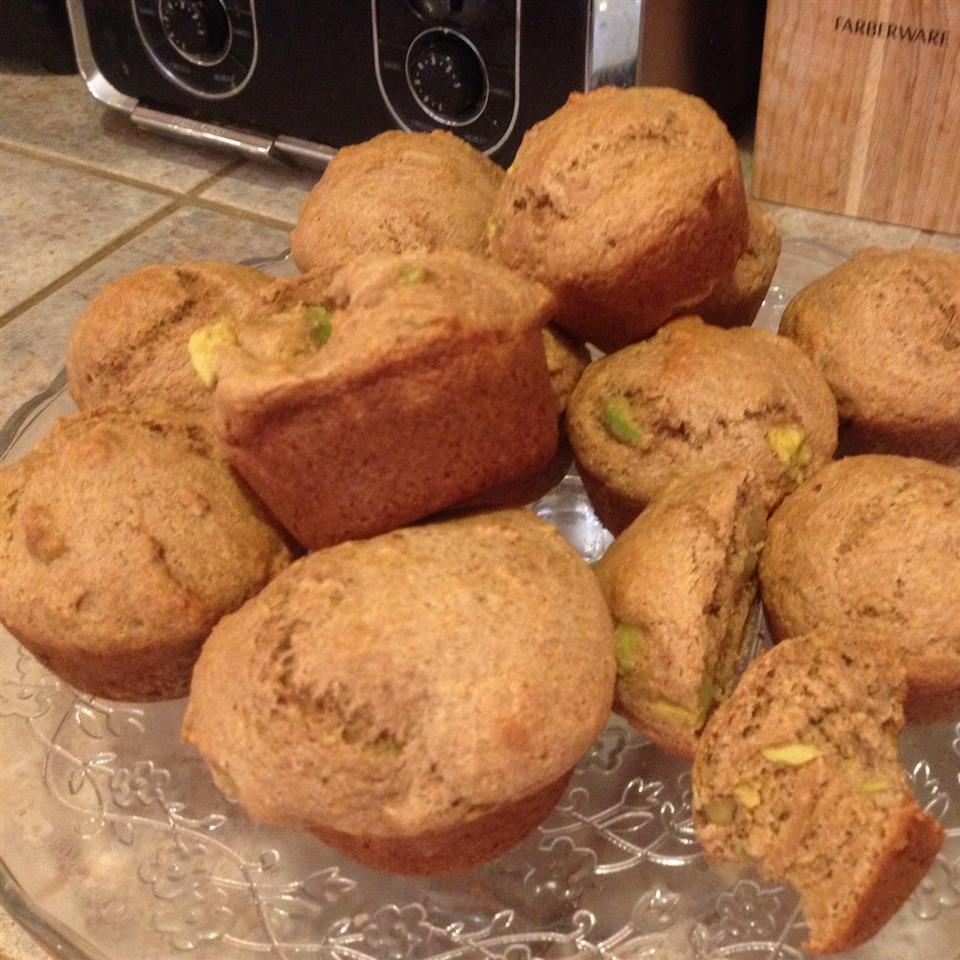 Avocado Banana and Walnut Muffins