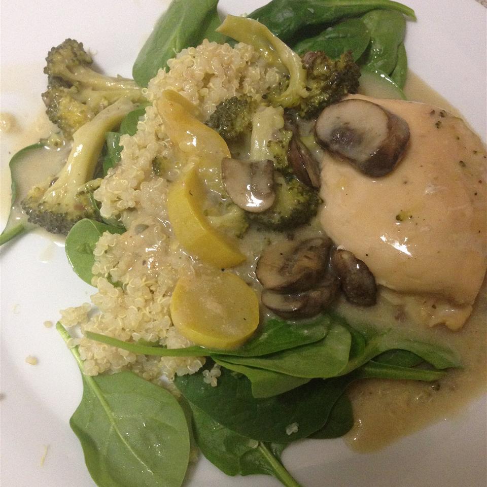 Slow Cooker Chicken with Mushroom Wine Sauce
