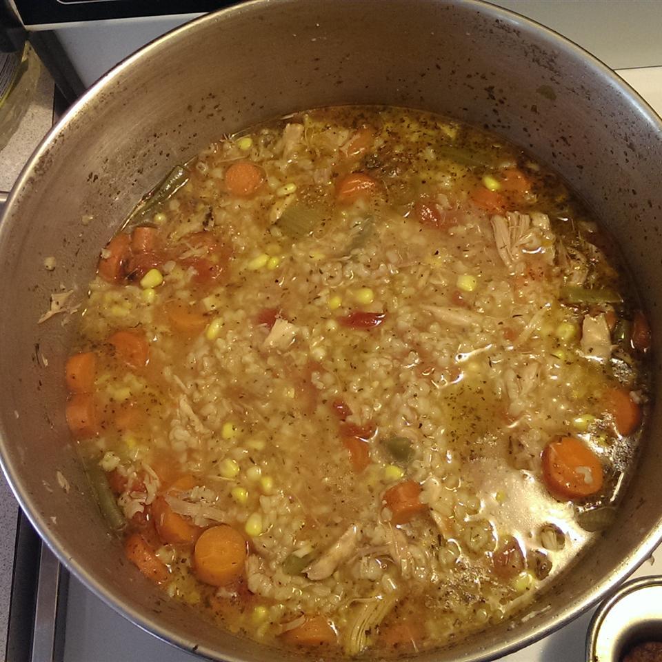 Zippy and Tangy Turkey Rice Soup Laura Jennings