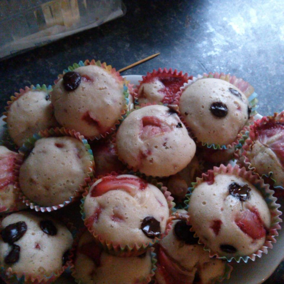 Valentine's Day Strawberry Muffins Alicia Szott