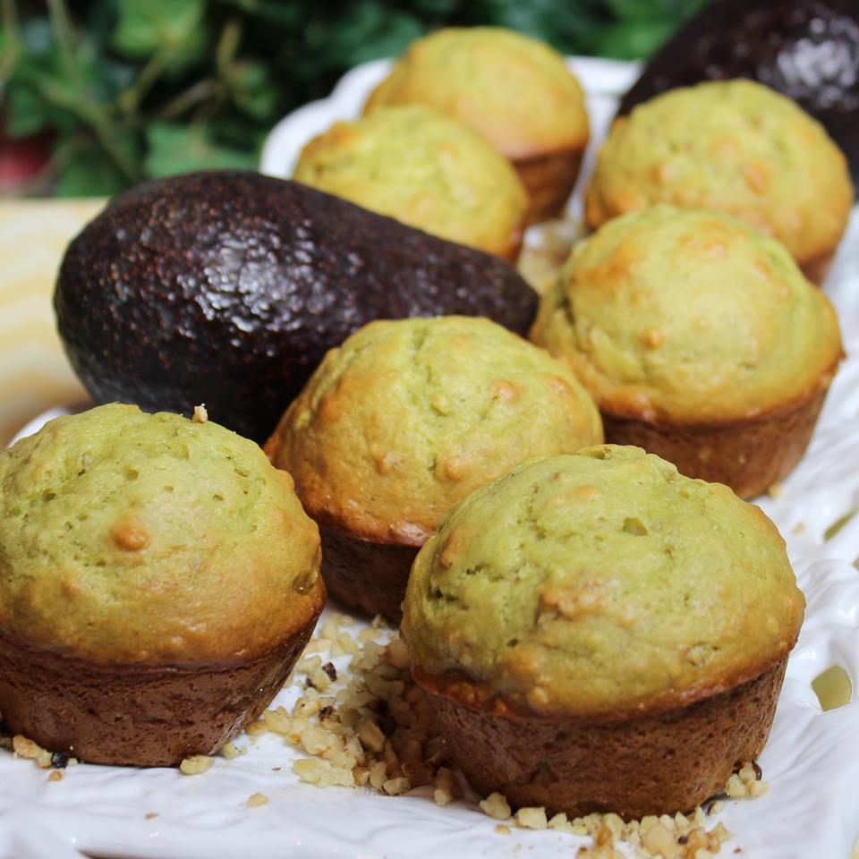 Avocado Banana and Walnut Muffins Paula