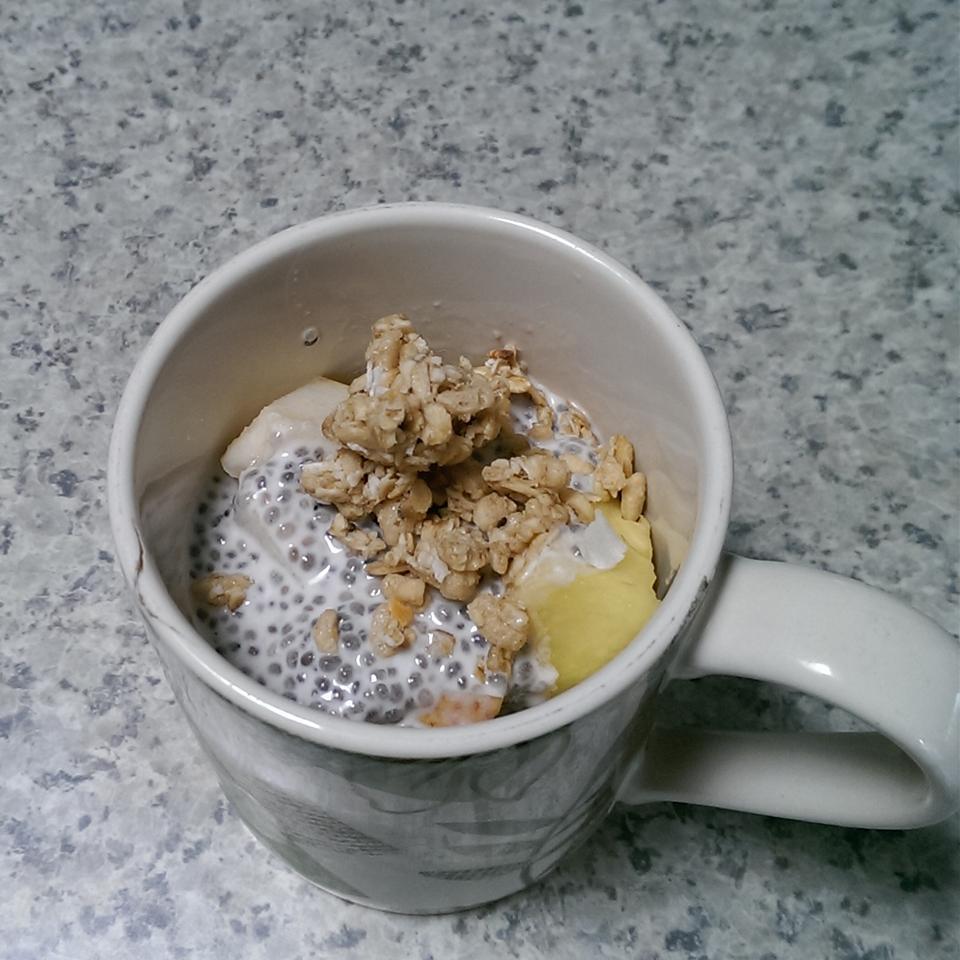 Chia Coconut Pudding with Coconut Milk