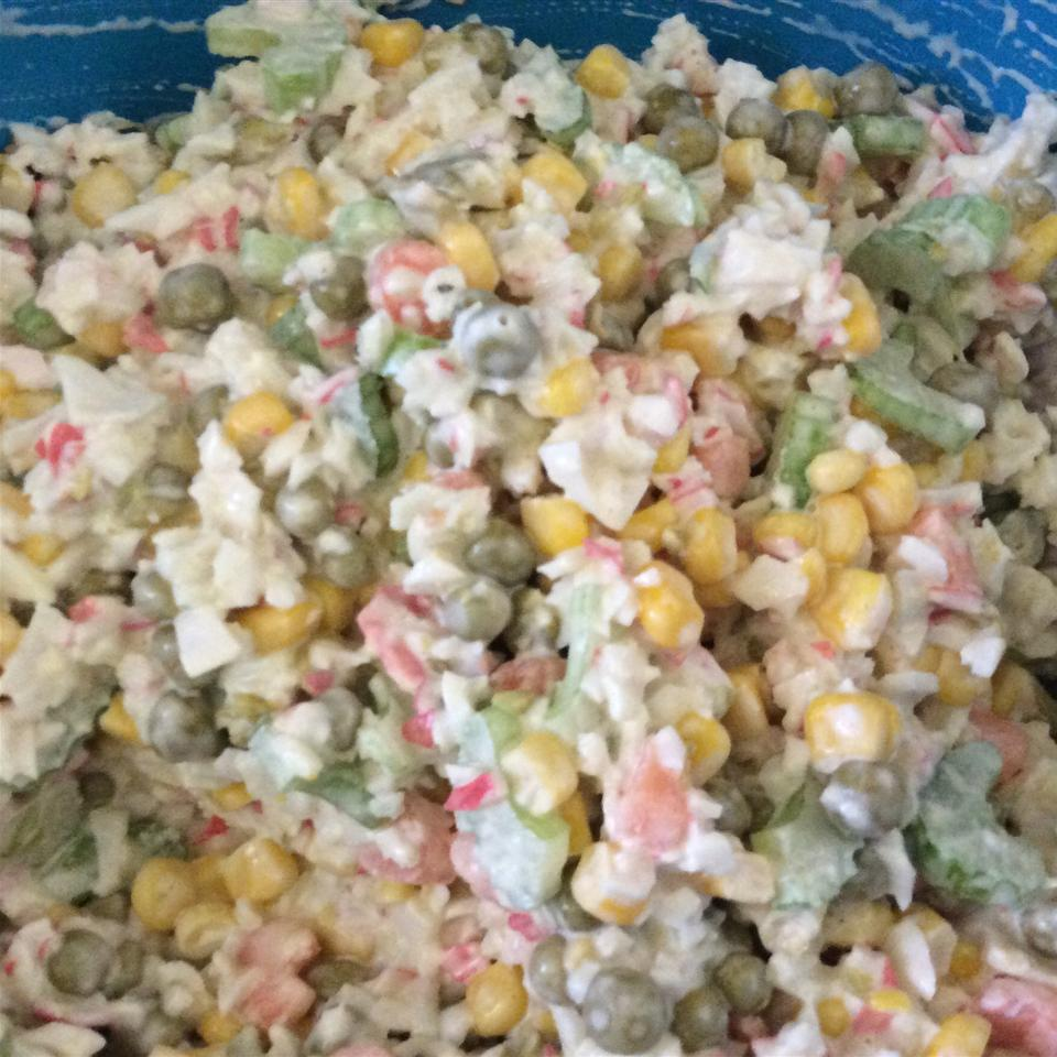 Crab and Pea Salad Mary