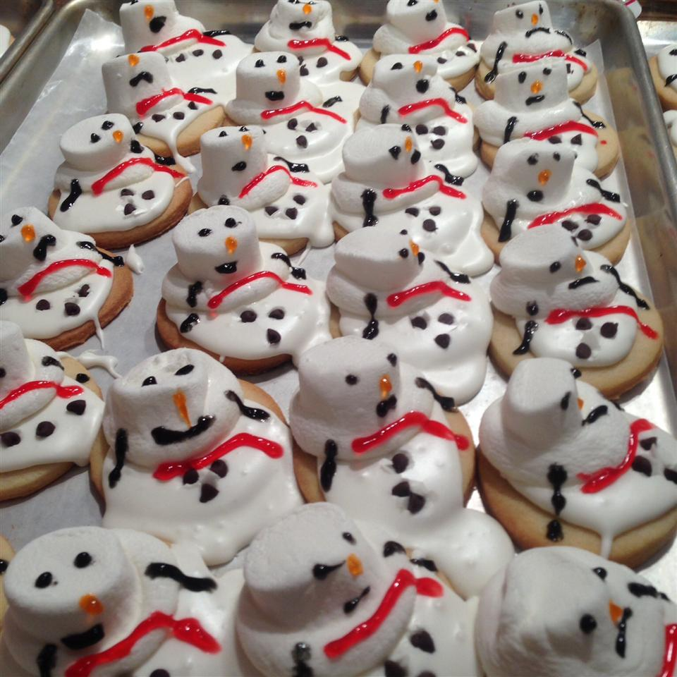 Melted Snowman Cookies Sympathy4onions