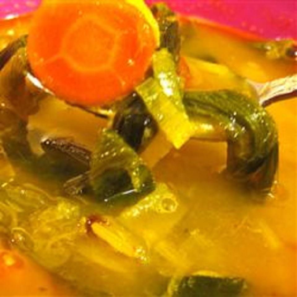 Vegan Japanese Winter Squash and Leek Soup KN Granger