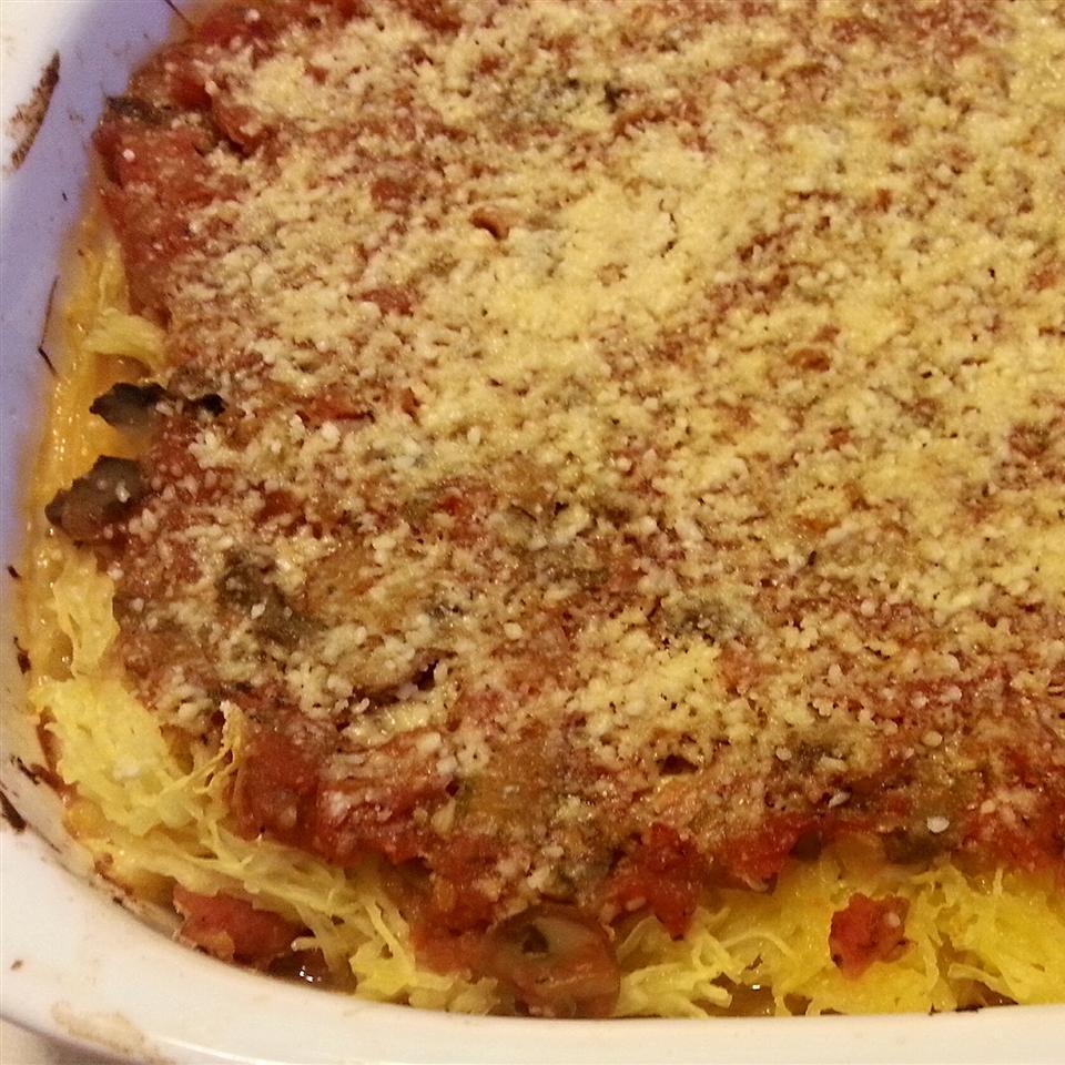Baked Spaghetti Squash Lasagna Style