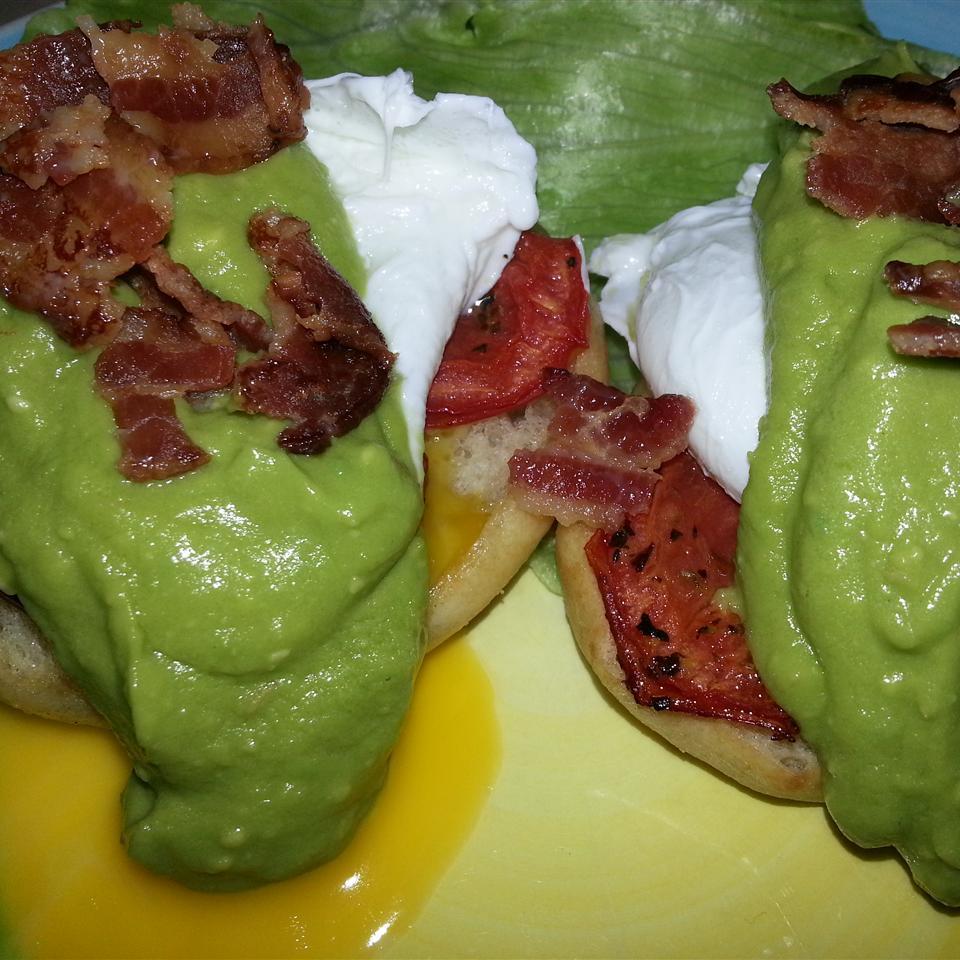 Avocado Sauce Eggs Benedict Liz Dalton 'Lizzie'