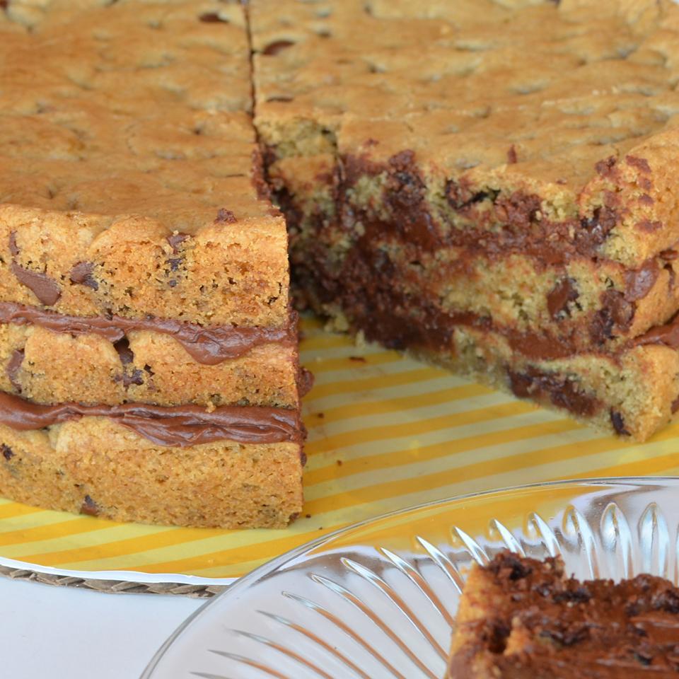 Chocolate Chip Cookie Layer Cake Karina