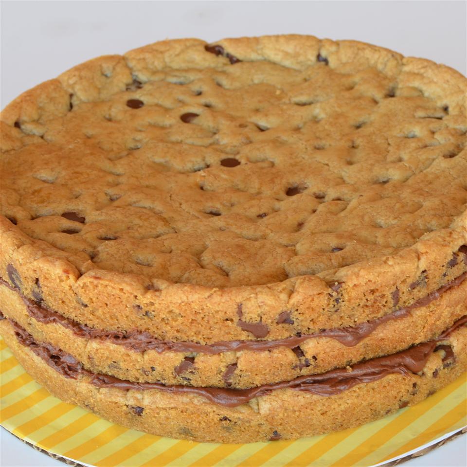 Chocolate Chip Cookie Layer Cake Lela