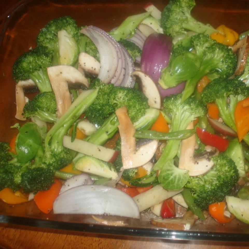 Garlicky Roasted Vegetables