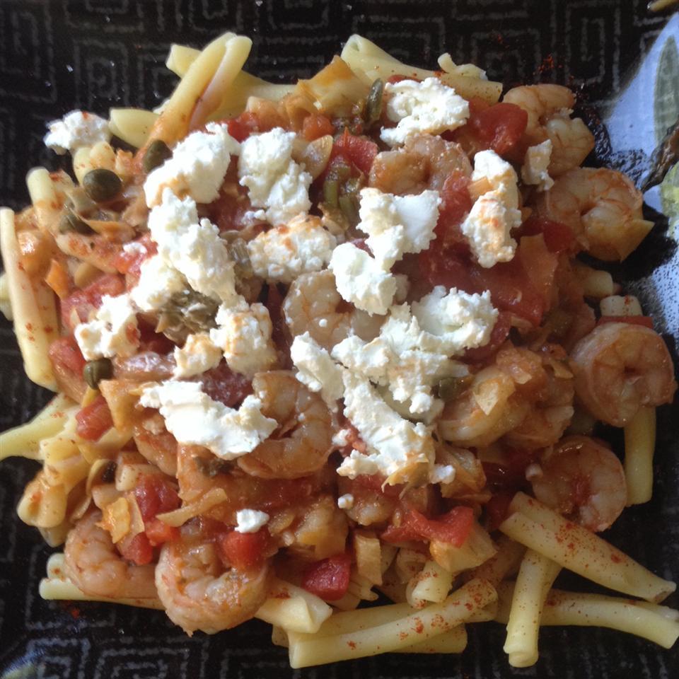 Shrimp Primavera with Goat Cheese