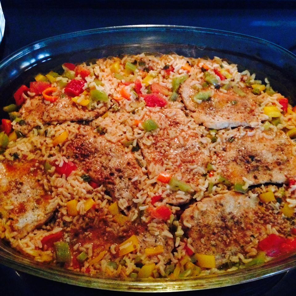Pork Chops with Garden Rice Christina