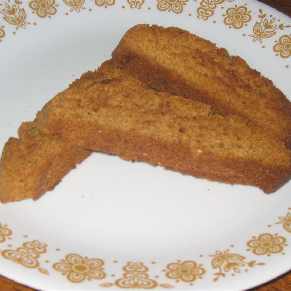 Gingerbread Biscotti BakerMike