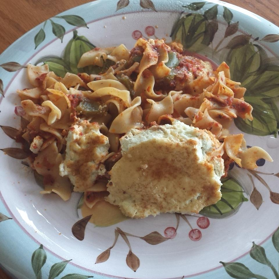 Layered Egg Noodle Bake Lady at the Stove