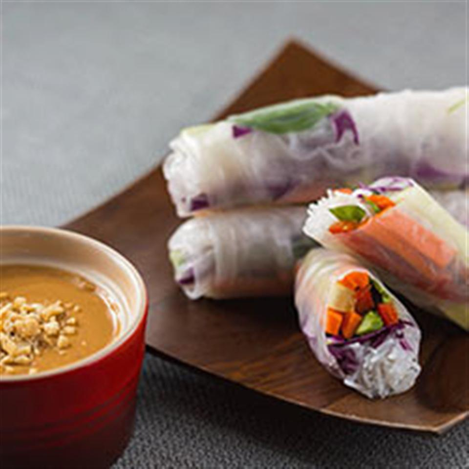 Spring Rolls with Coconut Peanut Sauce Trusted Brands