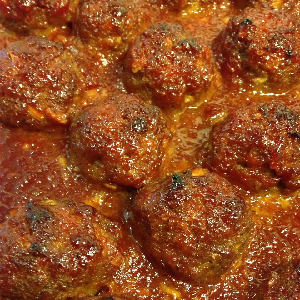 BBQ Glazed Homemade Meatballs
