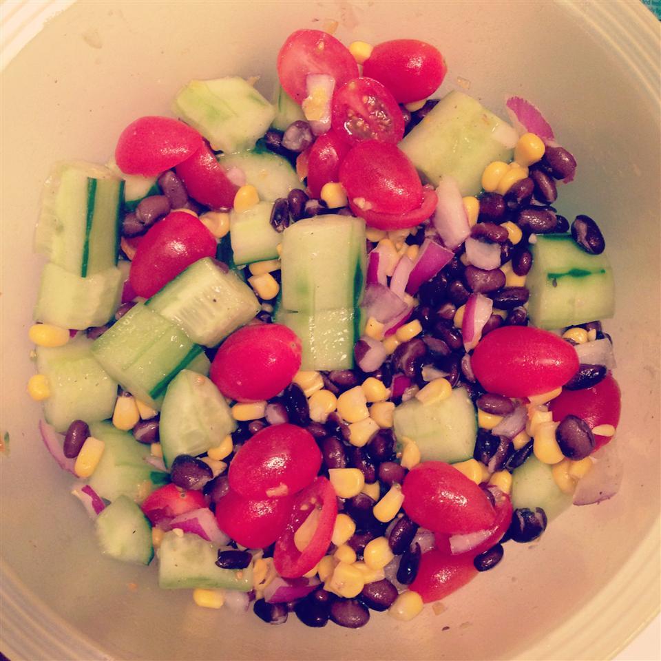 Black Bean and Cucumber Salad Erica Brechtelsbauer