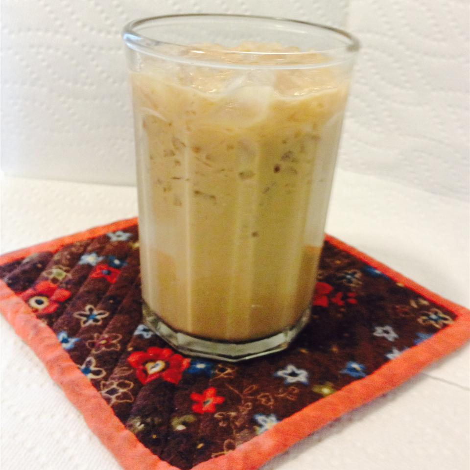 "In this variation, coffee combines with milk, half-and-half, a little sugar and vanilla, plus creme de cacao! Some folks prefer to use chocolate syrup in place of the chocolate liqueur. ""I can't make it fast enough!"" raves LADYONE."