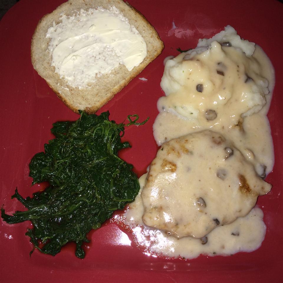 Skillet Chops with Mushroom Gravy deadeyelizzie