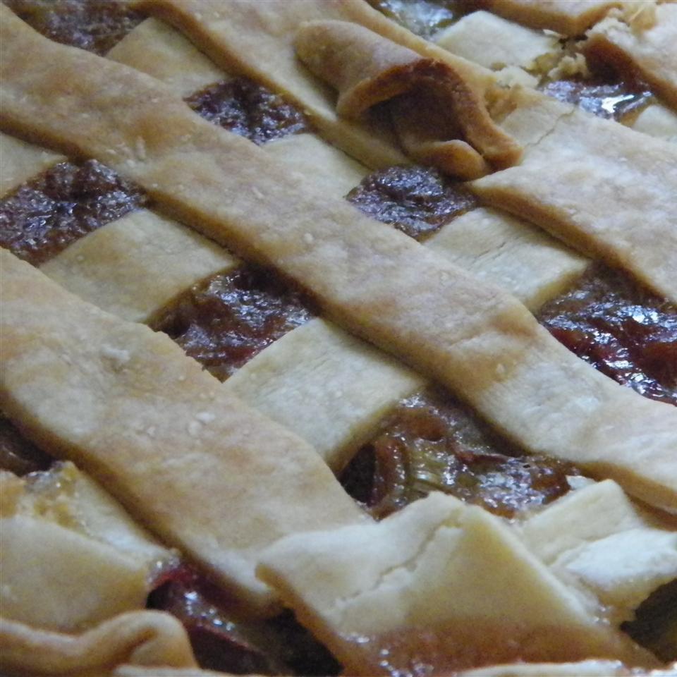 Grammy's Favorite Rhubarb Custard Pie STARAJOY