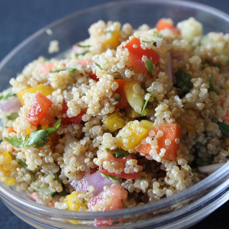 Quinoa Vegetable Salad mommyluvs2cook