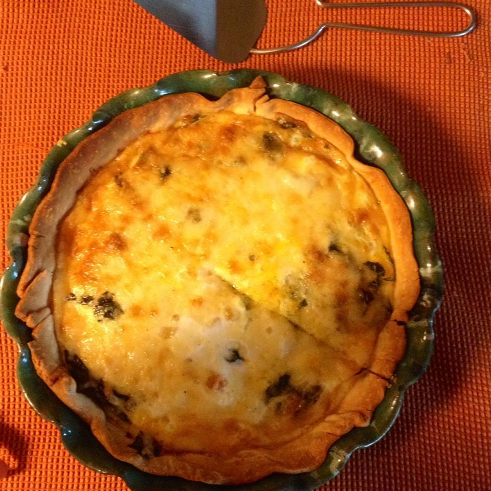 Vegetarian Quiche Florentine