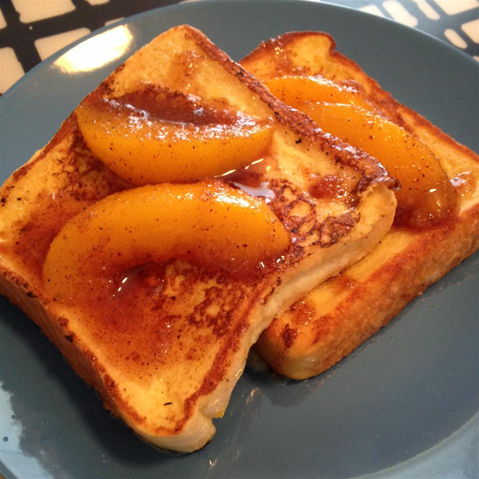 Mascarpone Stuffed French Toast with Peaches