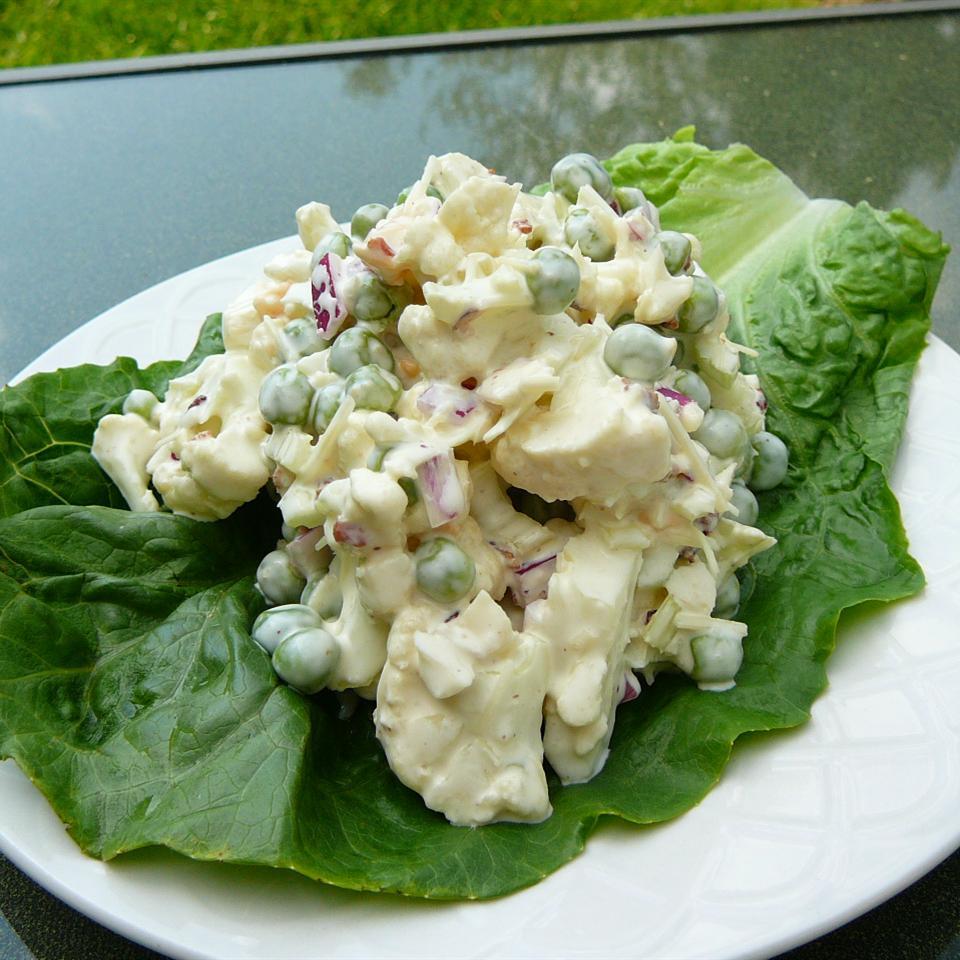 Ginny's Cauliflower and Pea Salad