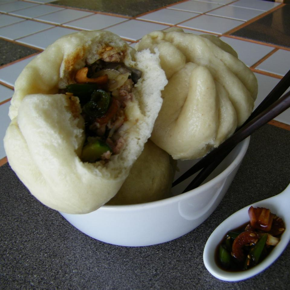 Chinese Steamed Buns with Meat Filling