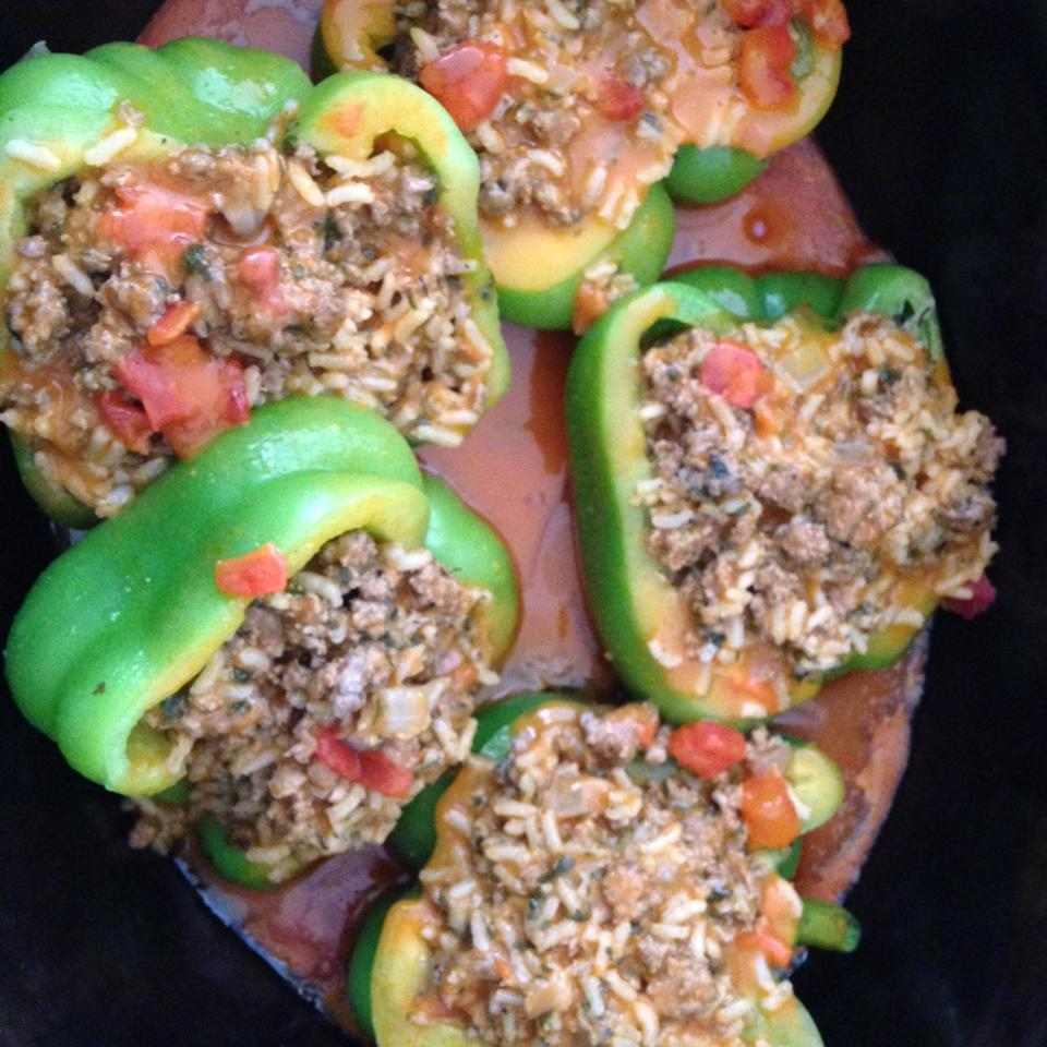 Stuffed Bell Peppers, Greek Style Jane Guzauskas Ruby
