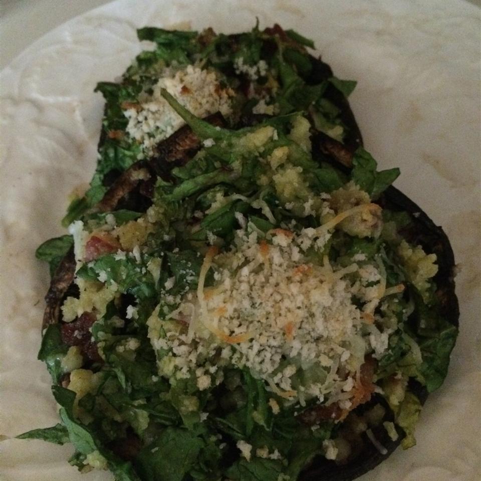 Spinach Stuffed Portobello Mushrooms
