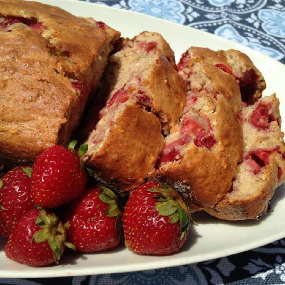 Banana Strawberry Oat Bread