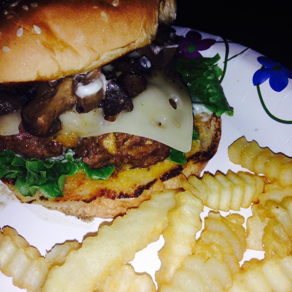 Grilled Mushroom Swiss Burgers RoxRod
