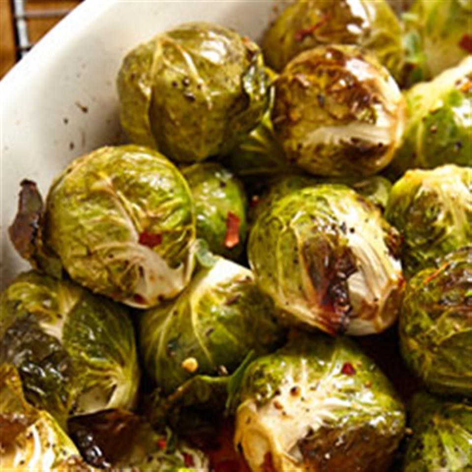 Roasted Brined Brussels Sprouts