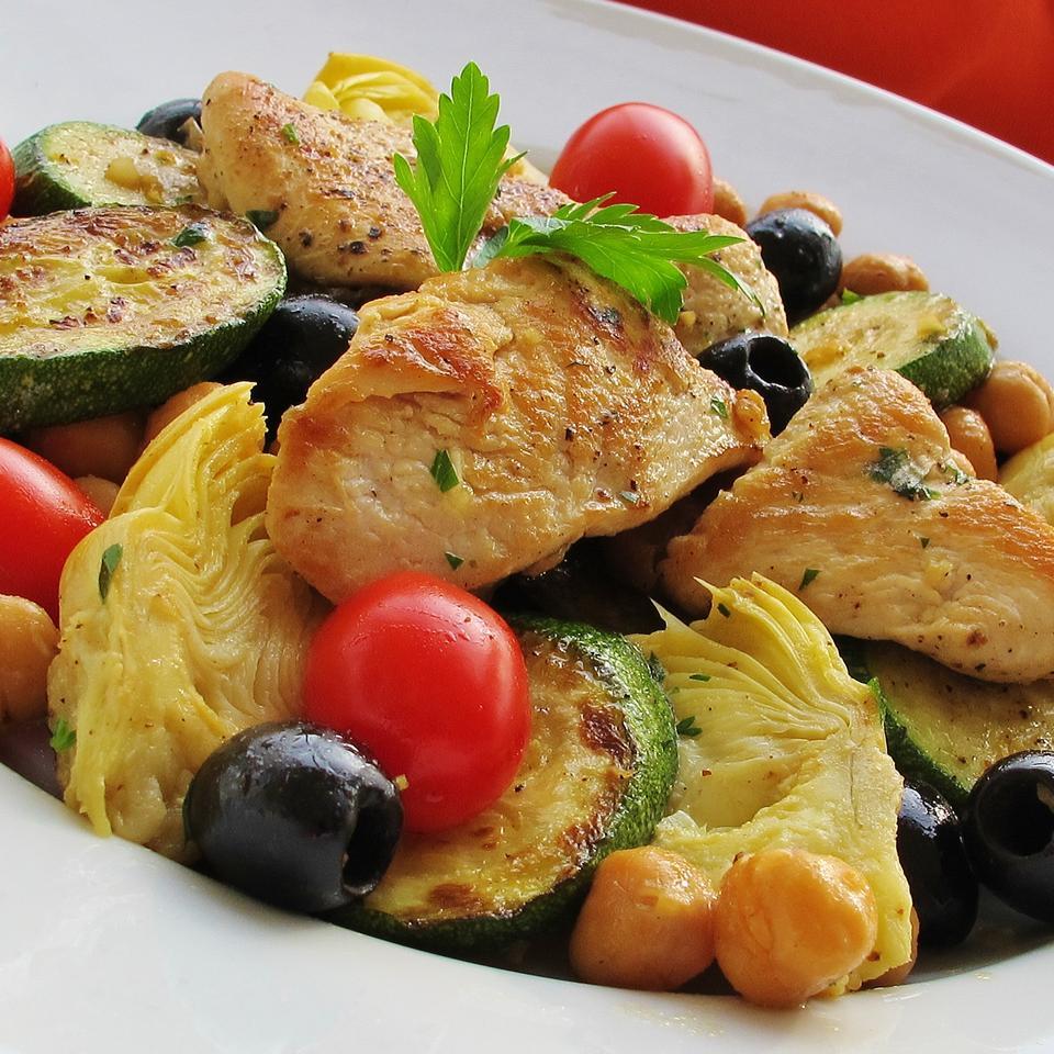 Zucchini Artichoke Summer Salad naples34102