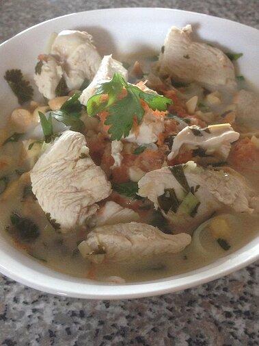 Chicken In Lemongrass Coconut Broth Recipe Allrecipes