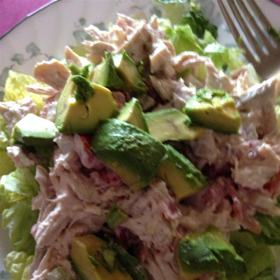 Chicken Salad with Bacon, Lettuce, and Tomato