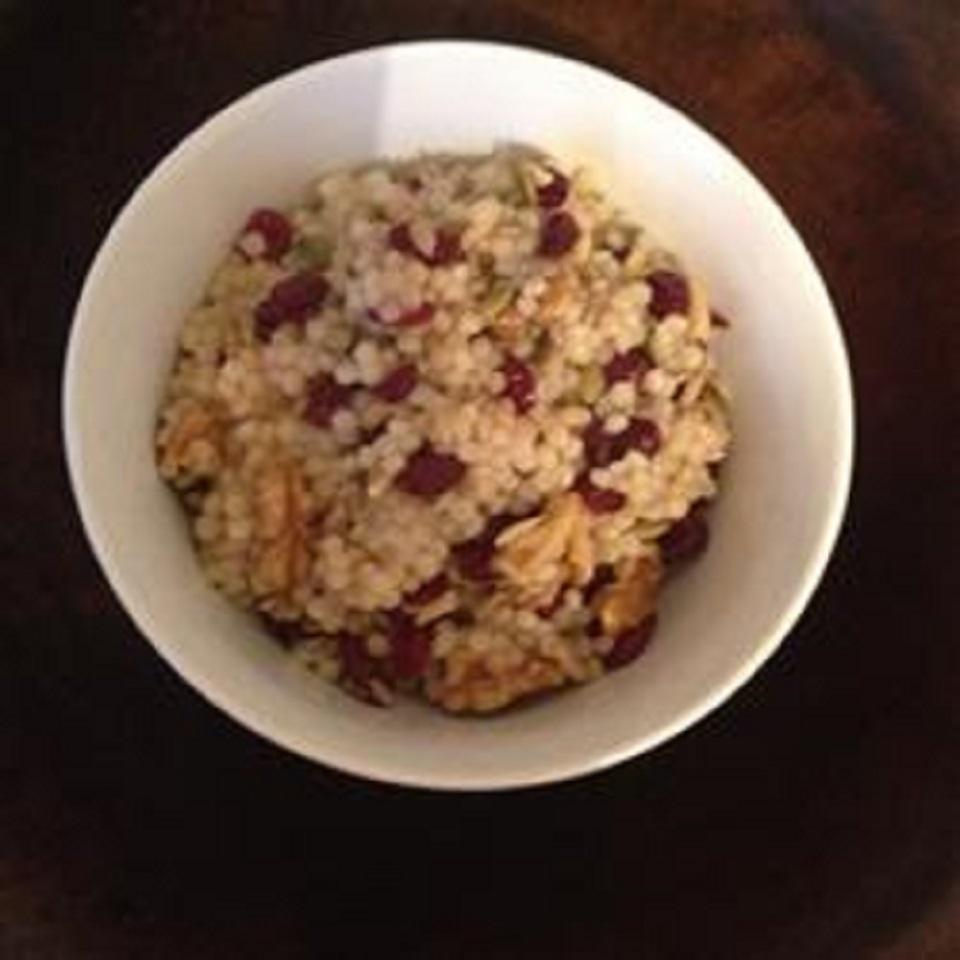 Israeli Couscous with Cranberries, Walnuts, and Sunflower Seeds chowhound