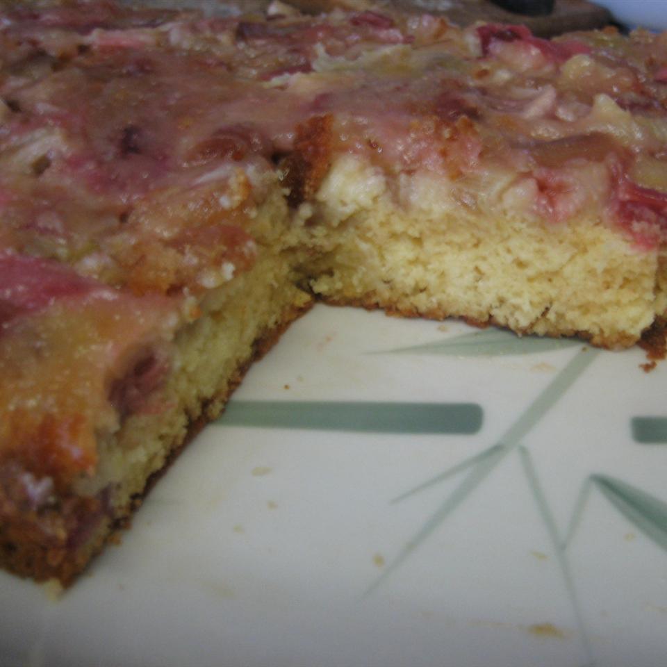 Rhubarb Upside Down Cake I mamacook