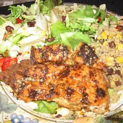 Summer Salad with Cumin-Crusted Salmon