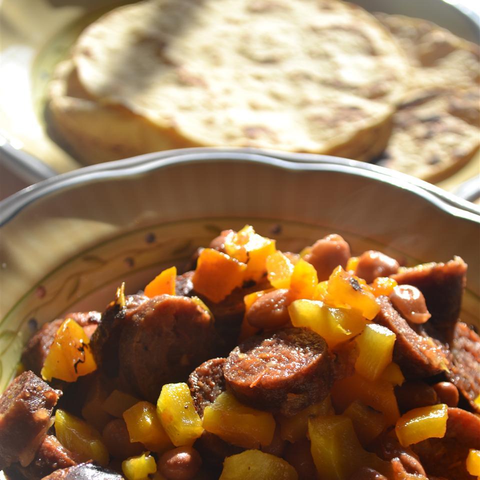 Grilled Sausage Burrito Rebekah Rose Hills