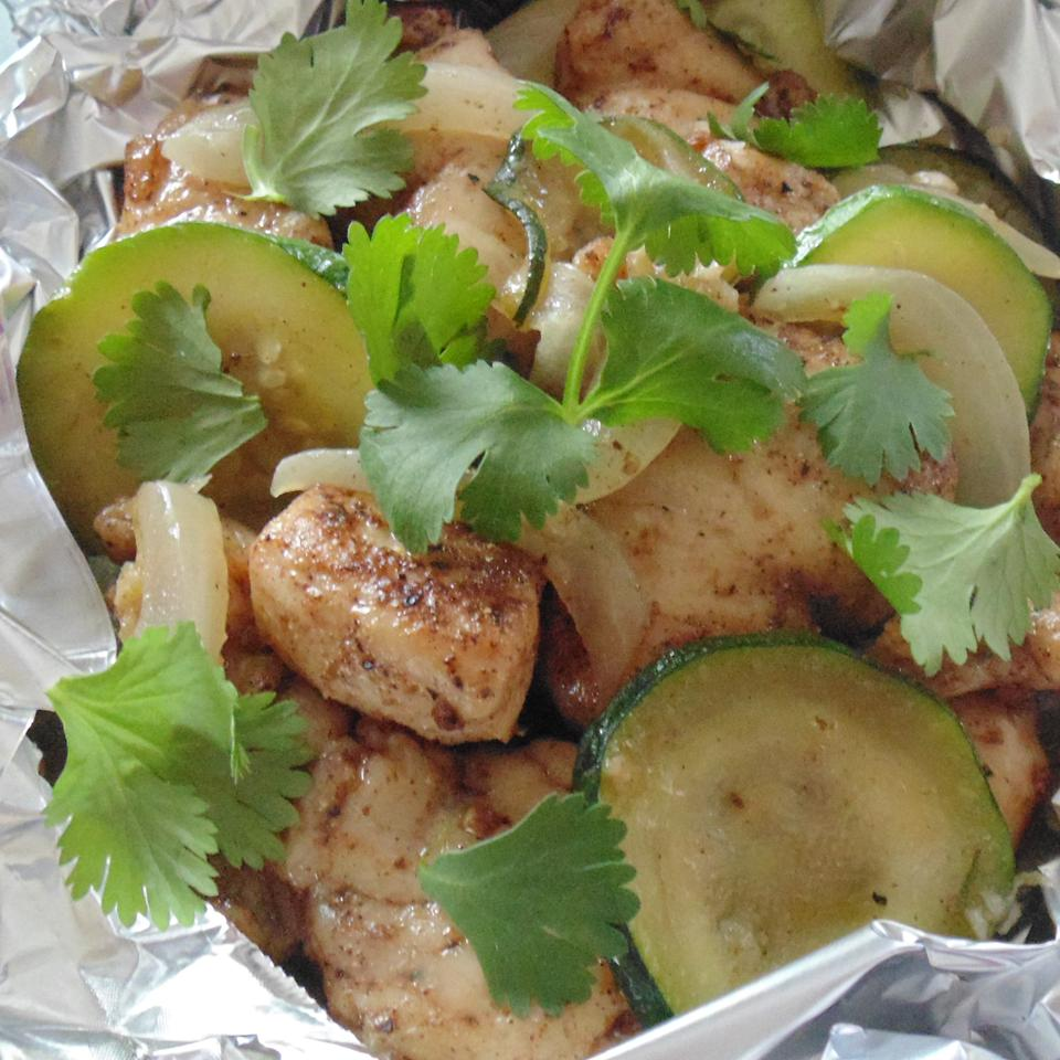 Grilled Masala Chicken with Vegetables