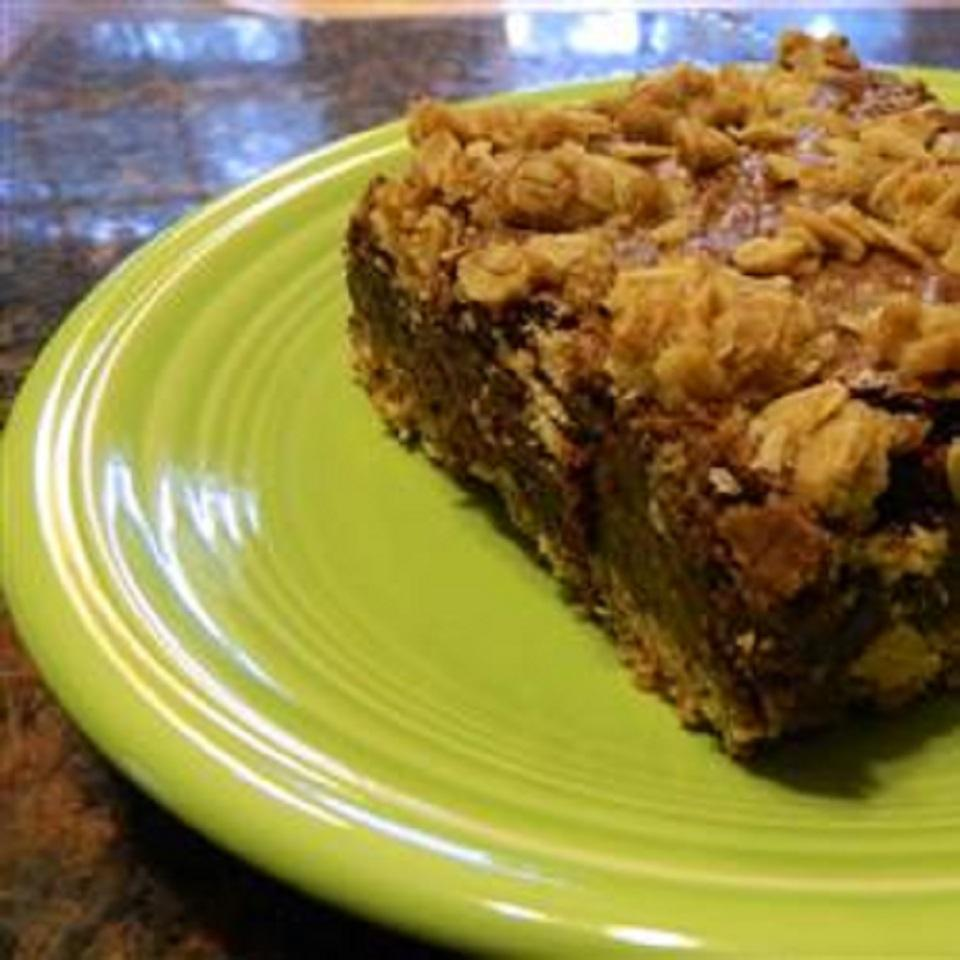 Oatmeal-Crusted Brownies allnaturalmom