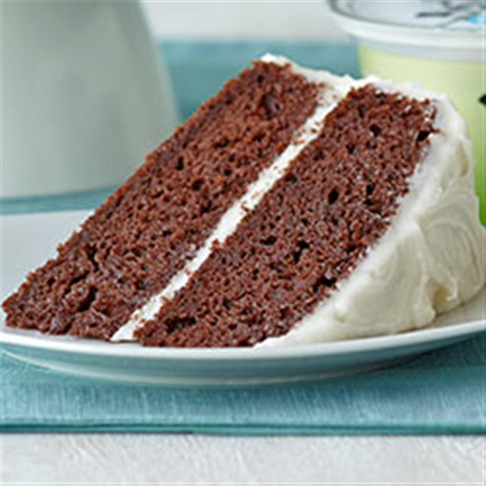 Double Chocolate Cake with Creamy Frosting
