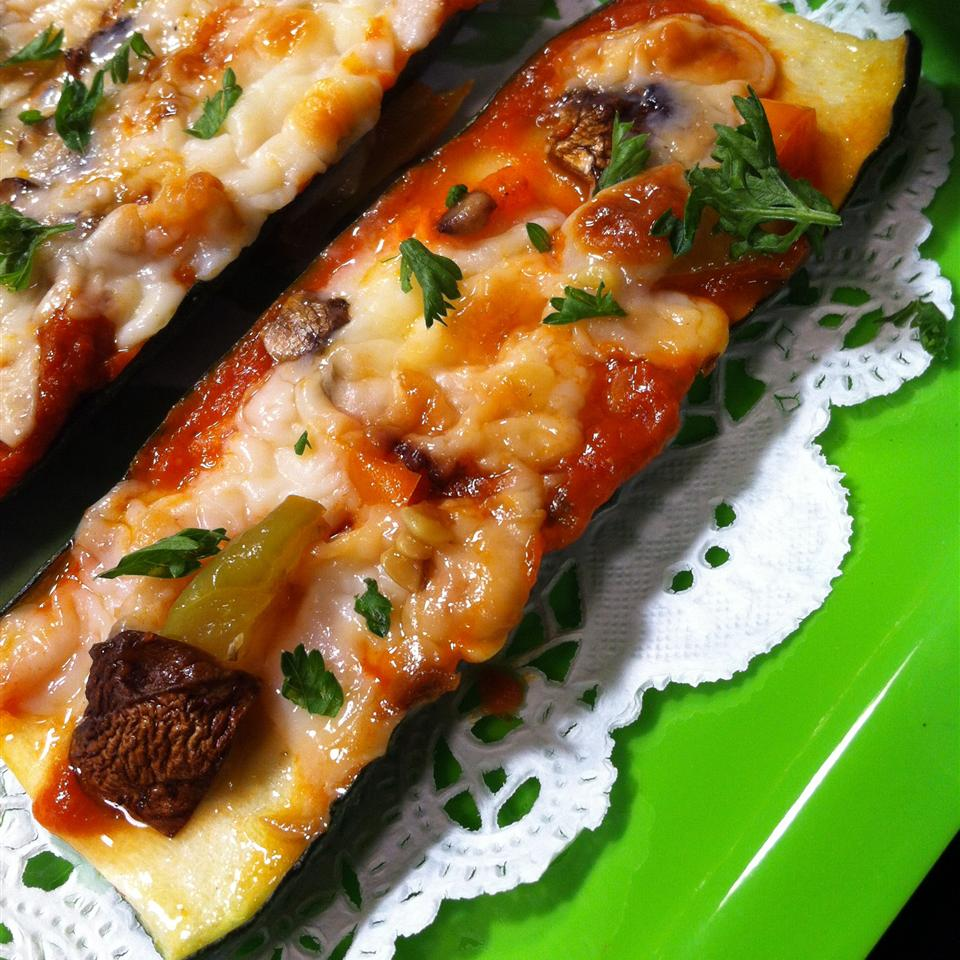 Grilled Zucchini Pizza with Goat Cheese