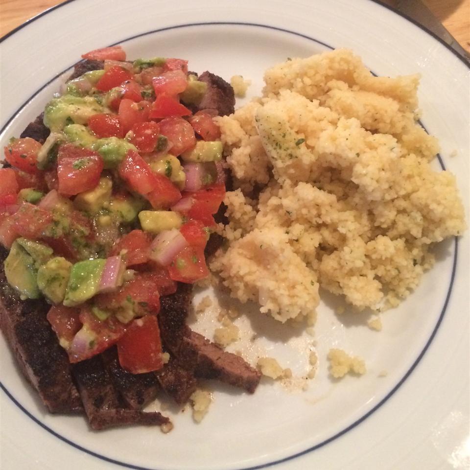 Flank Steak with Avocado Salsa Alyssa