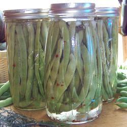 Crisp Pickled Green Beans